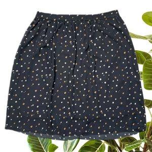 Tokito Myer Size 10 Navy Polkadot Skirt